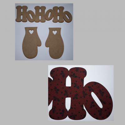 CAF112- Lot HOHOHO & moufles entissé