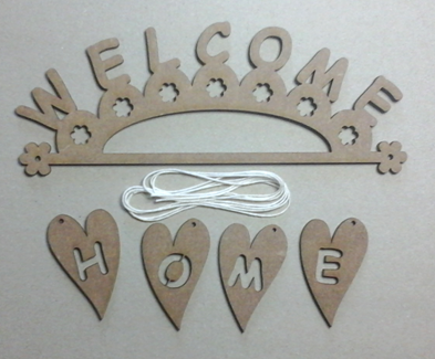 "KS004 - Kit suspension ""WELCOME - HOME"""