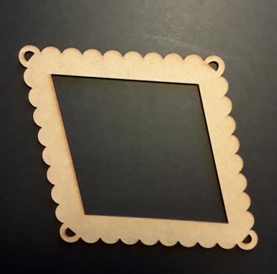 Cadre losange dentelle, 12x16,5 cm