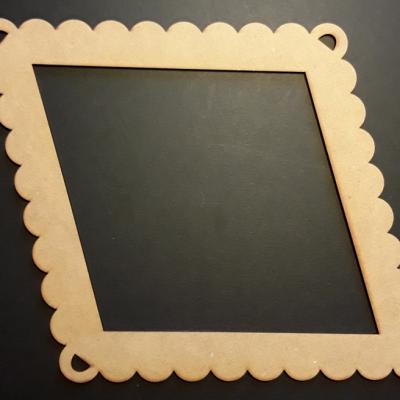 Cadre losange dentelle, 18,x24,5 cm