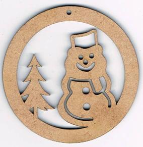 NE002N - Déco de noël, boule bonhomme de neige