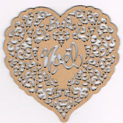 NF004N- Décoration de noël : Coeur et dentelles