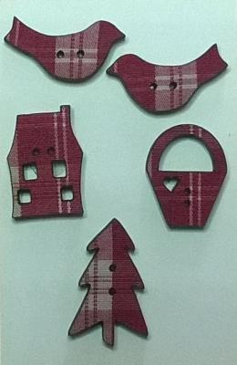 PA002 - Mini tissé rouge, série A