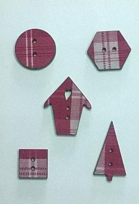 PF002 - Mini tissé rouge, série F