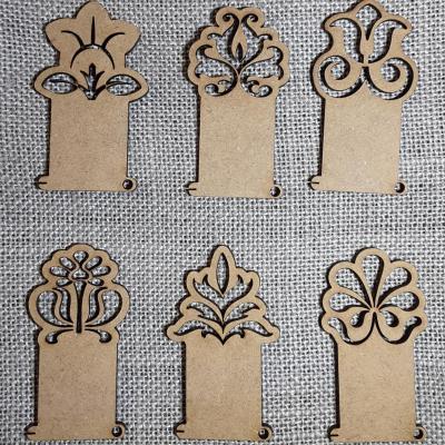 PF26 - Lot de 6 cartonettes arabesque fleur