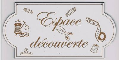"""PL101 - Plaque de porte """"espace découverte"""""""