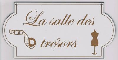 """PL102 - Plaque de porte """"la salle des trésors"""""""