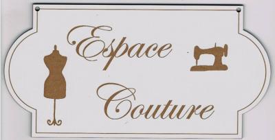 """PL103 - Plaque de porte """"espace couture"""""""