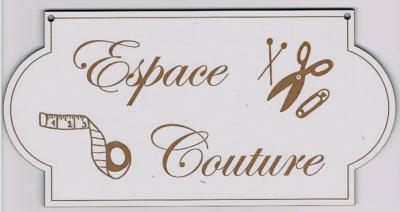 """PL106 - Plaque de porte """"espace couture"""""""