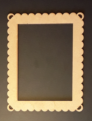 Cadre Rectangle dentelle, 10x14 cm