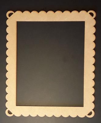 Cadre Rectangle dentelle, 16x20 cm