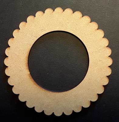 Cadre rond dentelle, 5 cm