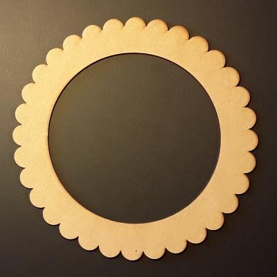 Cadre rond dentelle, 15 cm