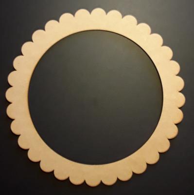 Cadre rond dentelle, 22 cm