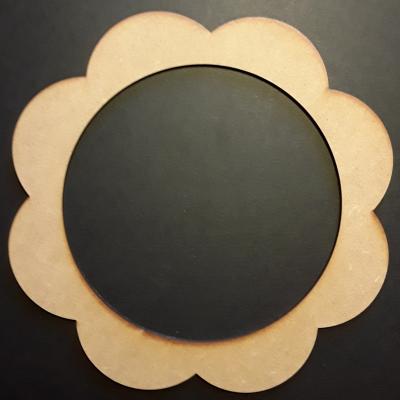 Cadre rond fleur, 15 cm
