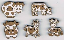 """SP001B - Série boutons """"Vaches"""""""