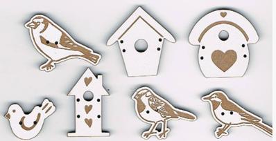 """SP008B - Série boutons """"oiseaux"""""""