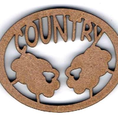 TC04 - Ajouré Ovale, Country & Moutons