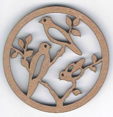 TCR01 - Ajouré Rond, Oiseaux