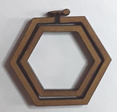 Tambour hexagone moyen